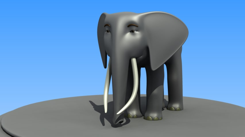 cartoon african elephant 3d model
