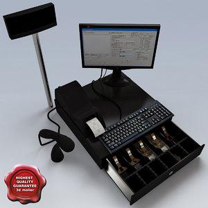 cash register v2 3d max