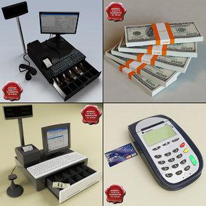 cash registers 3d model
