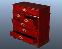 3dsmax chest drawers