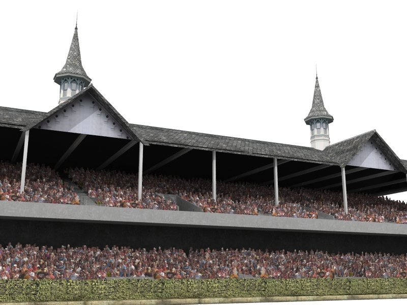 grandstand churchill downs 3d model