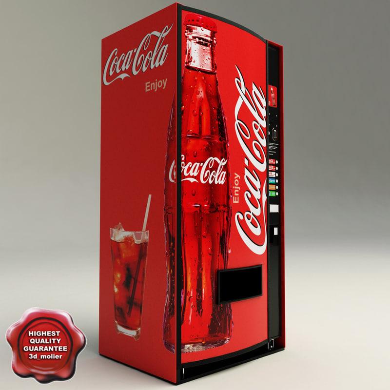 coca cola vending machine 3d model