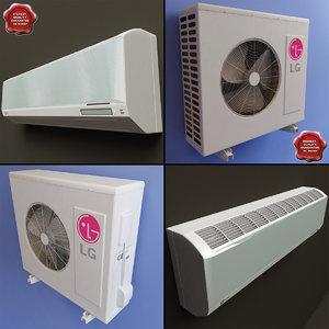 conditioner lg v1 3d model