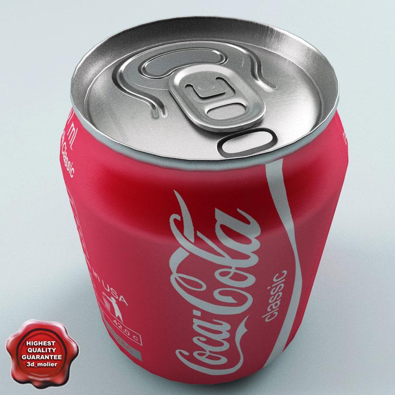 drink coca-cola 0 237l 3d model