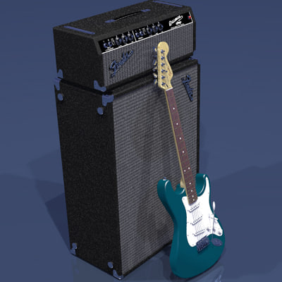 guitar amplifier 3d model