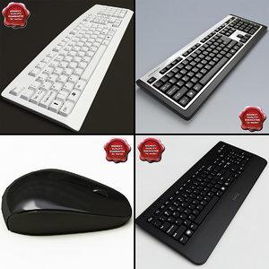 keyboards set modelled 3d model