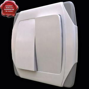3d model light switch v2