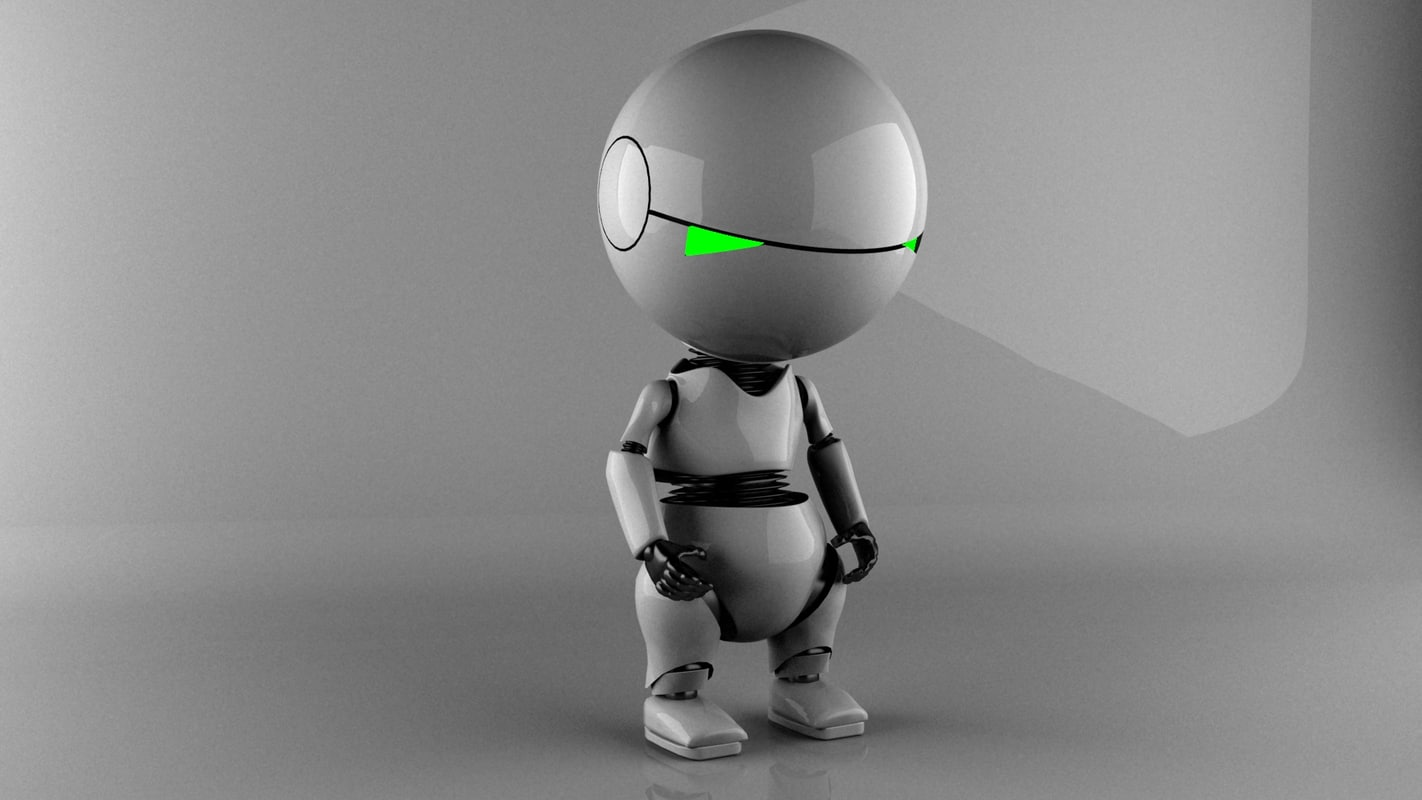 marvin android paranoid 3d model