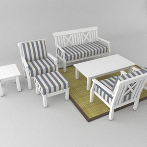patio furniture seat chair 3d model