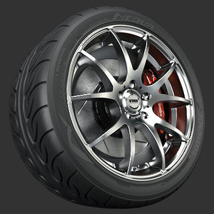 vmr v713 wheel tire 3d model