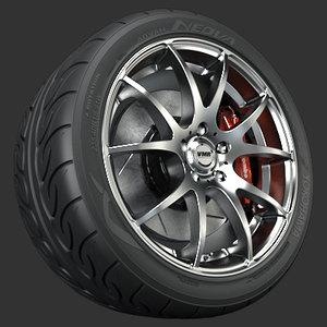vmr v713 wheel tire 3d model