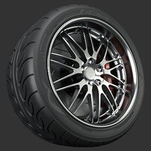 breyton spirit wheel 3d model