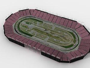 racetrack race track 3d model