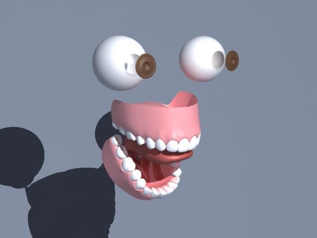 eyeballs gum teeth tongue ma