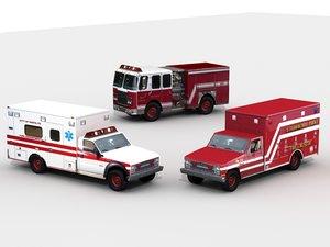 rescue fir 3d model