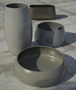 pots sahara plant obj free