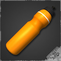 3d model sport bottle plastic