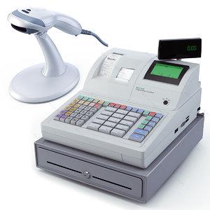 cash register scanner bar 3d model