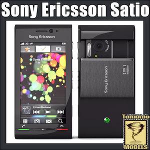 3d model of sony ericsson satio