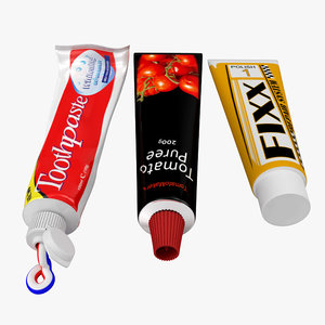 tube paste toothpaste 3d model