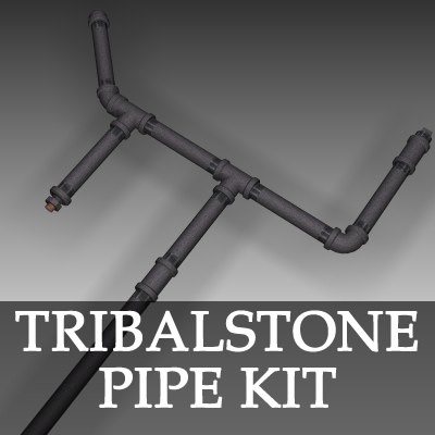 3d galvanized pipe kit model