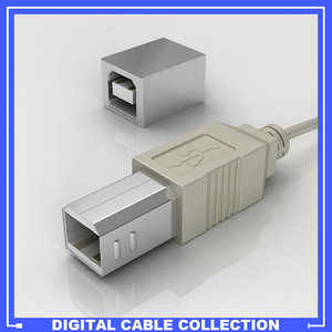 3d usb printer female connection model