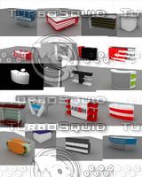 3d info desk gallery model
