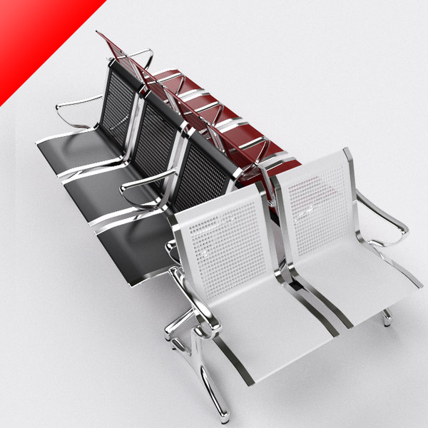 waiting chairs 3d model