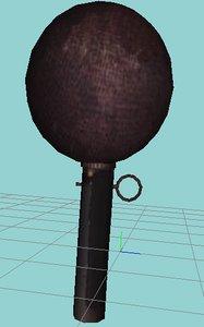 3d ww2 grenade model