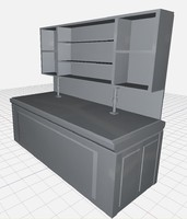 untextured workbench 3d model
