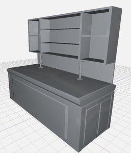 untextured workbench 3d model