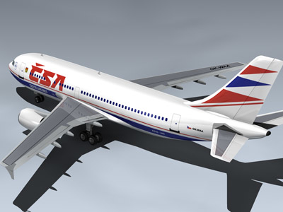 airbus a310-300 jet airlines 3d model