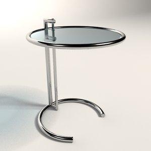 3d eileen gray adjustable table