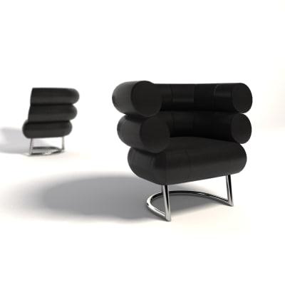 3d model eileen gray bibendum armchair