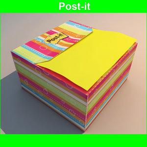 3d post post-it