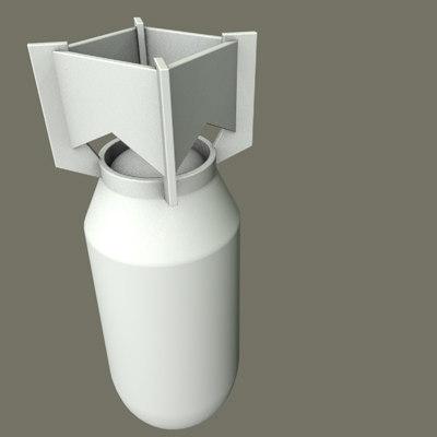 bomb 3 3d model