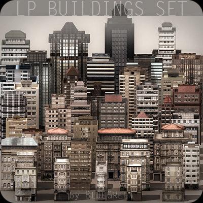 buildings apartments 3d model