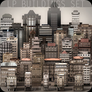 buildings apartments 3d model