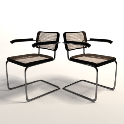 marcel breuer cesca armchair 3d max