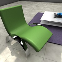 swedish chair table 3d model