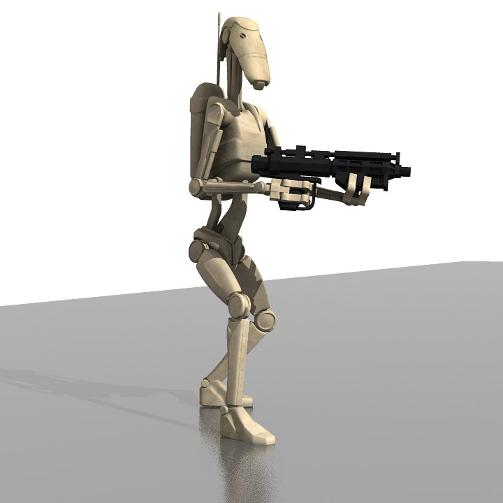 character rigged droids 3d model