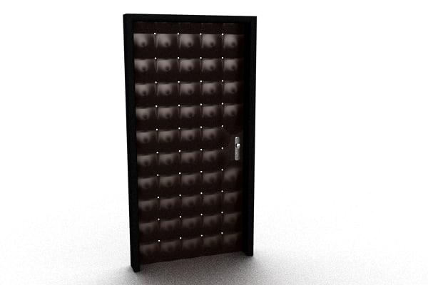 leather door 3ds