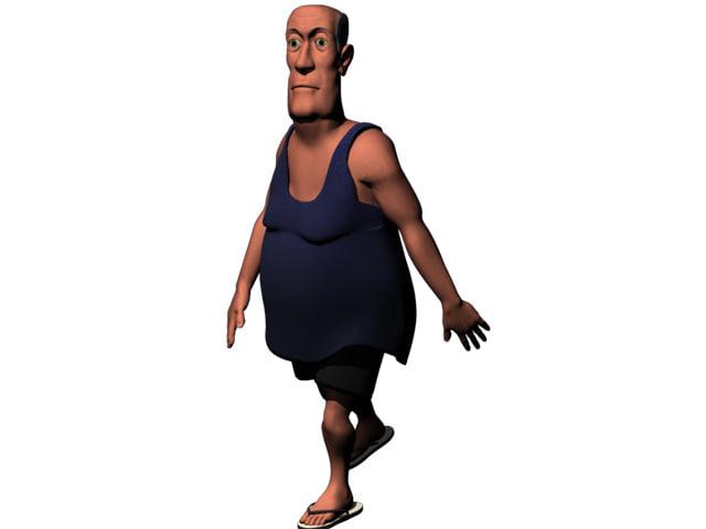 3dsmax fat man