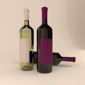 wine bottle 750ml 3d model