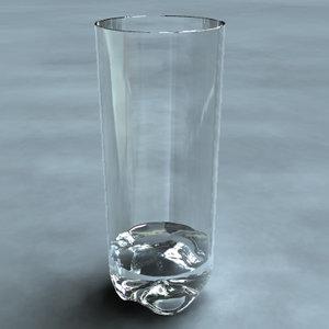 glass simple 3d obj