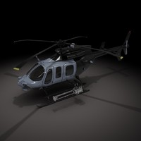 bell military helicopter 3d model