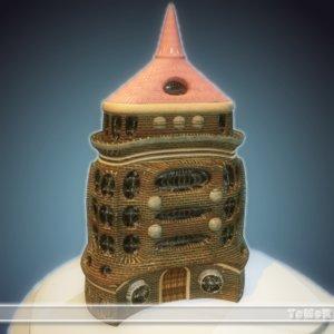 3ds max 8 mini castle c
