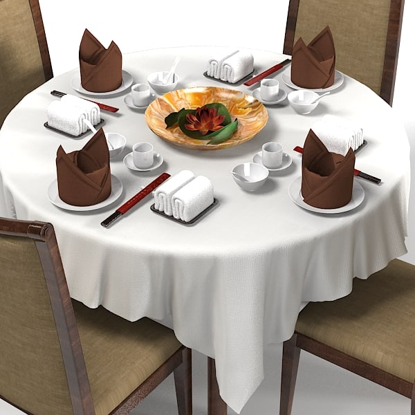 japanese table restaurant 3d model