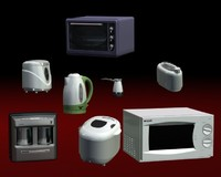 kitchen appliances 3d model
