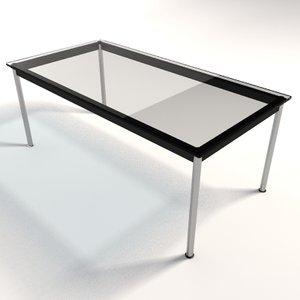 le corbusier lc10 dining 3d model